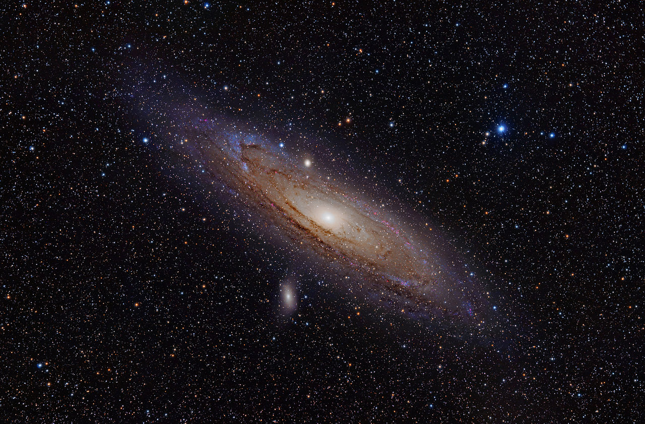 The Andromeda Galaxy is the largest galaxy in the Local Group (credit:- Adam Evans)