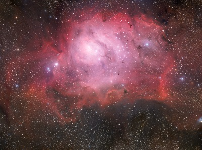 M8 The Lagoon Nebula a HII star-forming region (credit:- ESO/Guisard)