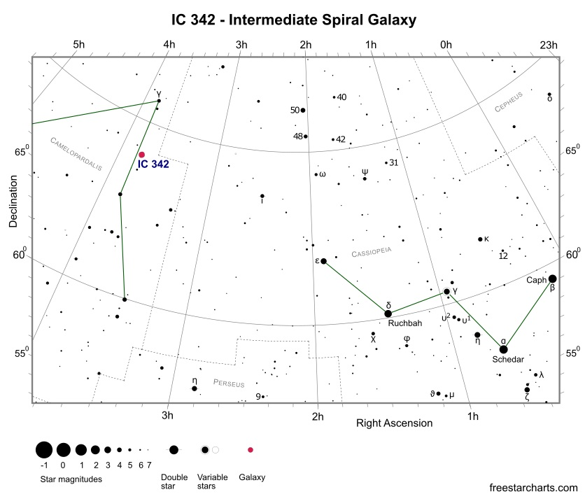 Finder Chart for IC 342 (credit:- freestarcharts)