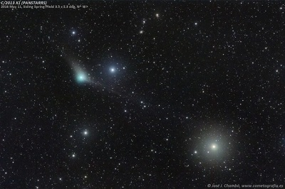 Comet PanSTARRS (C/2013 X1)as imaged on May 11, 2016 (credit - José J. Chambó / cometografia.es)
