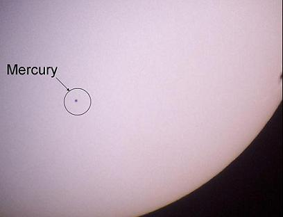 Mercury transit of November 8, 2006 (credit - Eric Kounce)