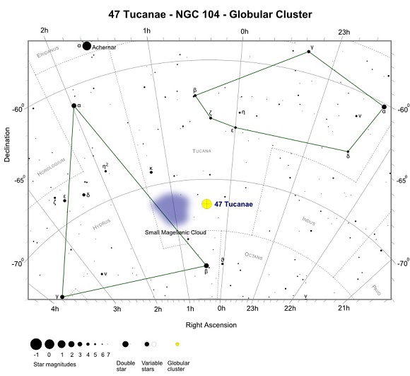 Finder Chart for 47 Tucanae