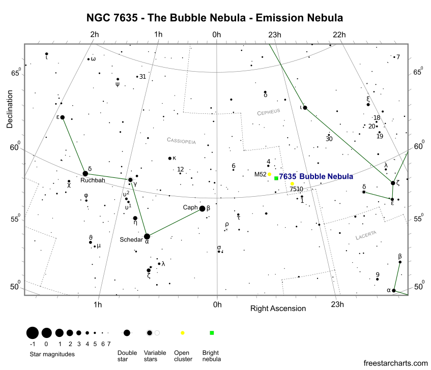 Finder Chart for NGC 7635 (credit:- freestarcharts)