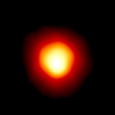 Hubble Space Telescope image of Betelgeuse revealing the huge ultraviolet atmosphere (Andrea Dupree (Harvard-Smithsonian CfA), Ronald Gilliland (STScI), NASA and ESA)