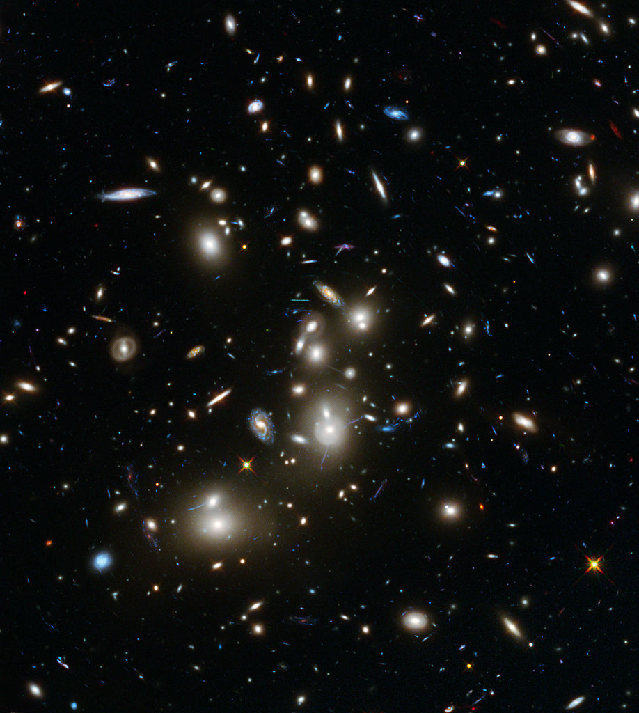 Hubble Frontier Fields view of Abell 2744 (NASA, ESA, and J. Lotz, M. Mountain, A. Koekemoer, and the HFF Team (STScI))