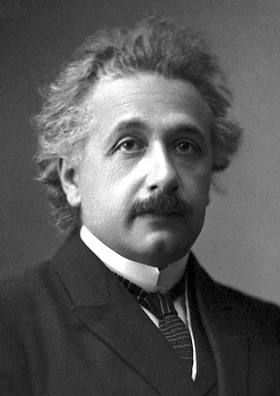 Albert Einstein (credit:- Official 1921 Nobel Prize in Physics photograph)