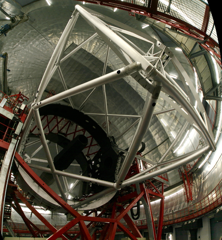 Gran Telescopio Canarias (GRANTECAN or GTC), a 10m reflector telescope at the Roque de los Muchachos Observatory, La Palma, Canary Islands (credit:- H. Raab)