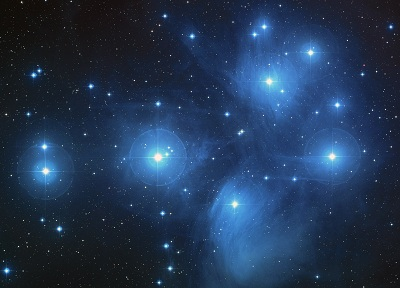 A spectacular open cluster, M45 The Pleiades (credit:- NASA, ESA, and The Hubble Heritage Team (STScI/AURA))