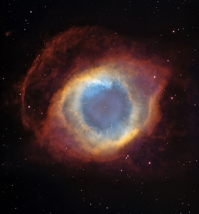 The Helix Nebula is the brightest planetary nebula in the sky (credit:- NASA, ESA, and The Hubble Heritage Team (STScI/AURA))