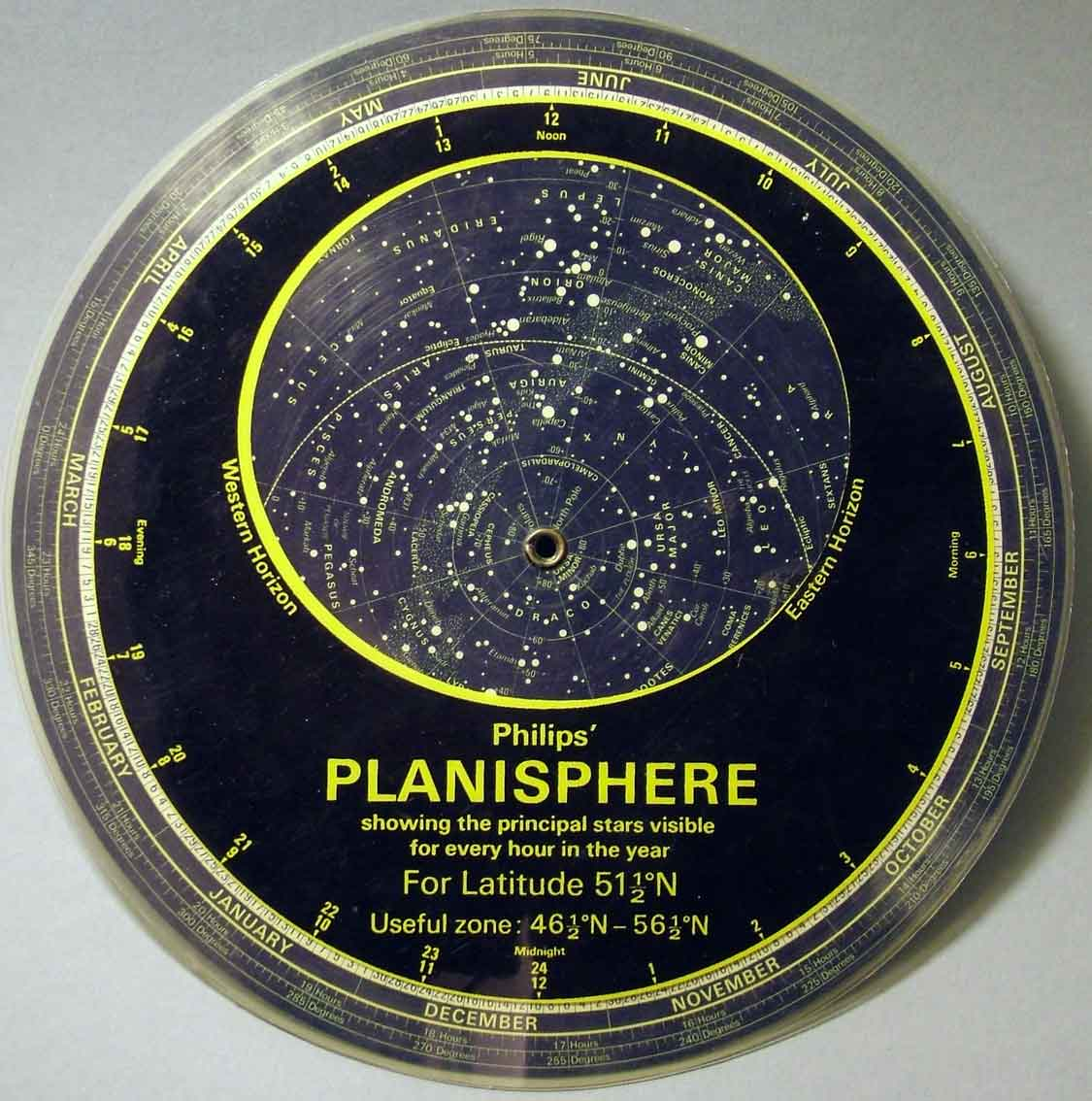 A planisphere for latitude 51.5N