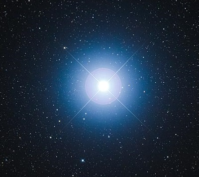 Sirius the brightest night-time star (credit:- Fred Espenak)