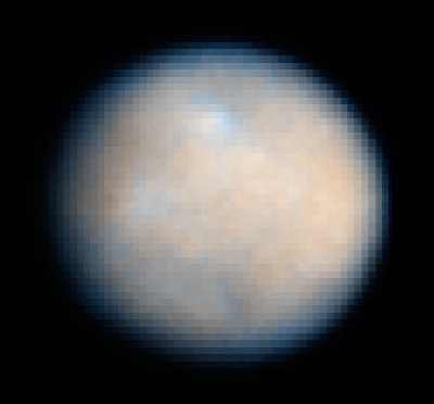 Hubble Telescope image of Ceres in 2004 (NASA,ESA and J. Parker (Southwest Research Institute))