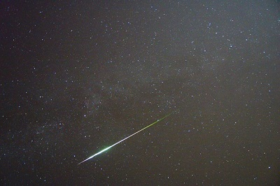 A Perseid flashes through the sky (Andreas Möller via wikimedia.org)