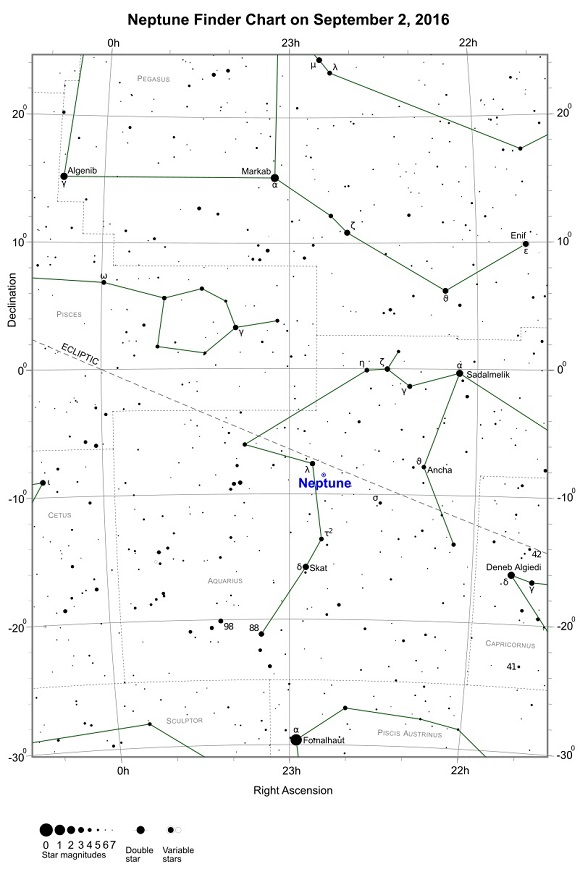 Neptune Opposition Finder Chart - September 2, 2016 (credit:- freestarcharts)