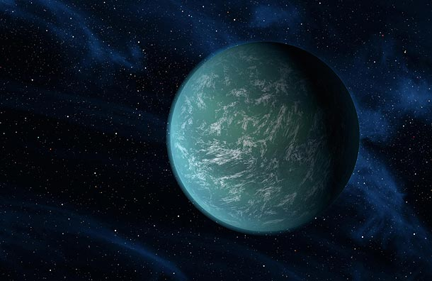 Artist's impression of Kepler 22b (NASA)