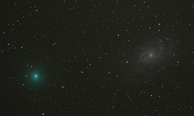 Comet 8P/Tuttle and M33 The Triangulum Galaxy (credit:- Paul Martinez / Philip Brents)