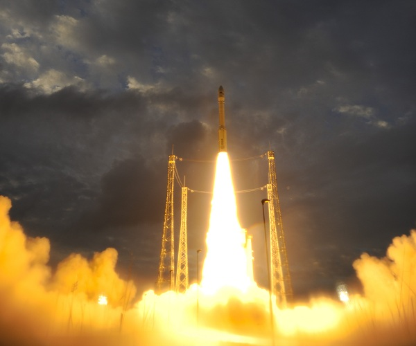 Lift-off for ESA's new Vega rocket on 13th Feb 2012 (ESA)