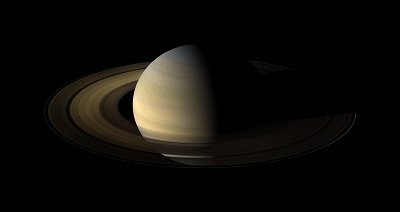 Saturn as imaged by the Cassini spaceprobe (credit:- NASA/ESA)