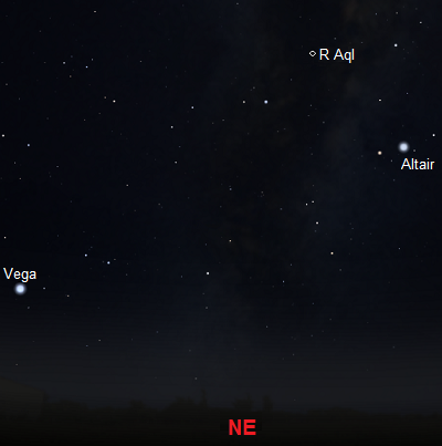 View looking northeast around midnight during June from mid-latitude Southern Hemisphere locations (credit:- stellarium/freestarcharts)