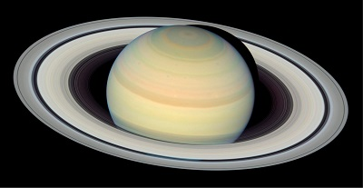 Saturn imaged by the Hubble Space Telescope (credit:- NASA, ESA, and The Hubble Heritage Team (STScI/AURA))