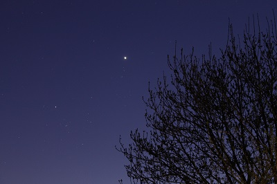 Venus is a brilliant evening star this month (www.freestarcharts.com)