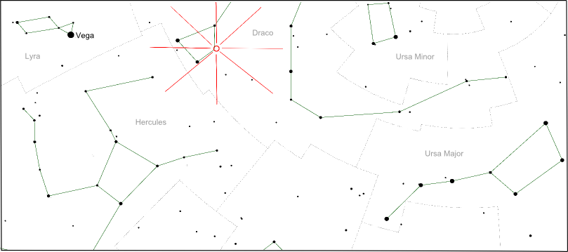 Draconids Star Chart