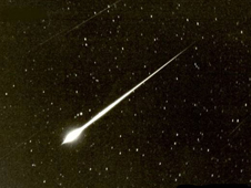 A bright meteor (TMO/JPL/NASA)