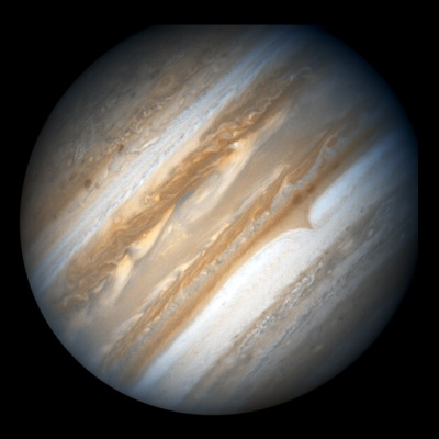 Jupiter as seen by Hubble Space Telescope (NASA/ESA)