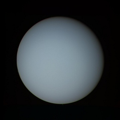 Uranus as imaged by Voyager 2 in January 1986 (NASA)