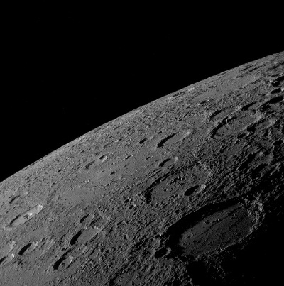 From the southern Hemipshere and tropics, Mercury is an evening object after the first week of September (image from the NASA Messenger space probe)