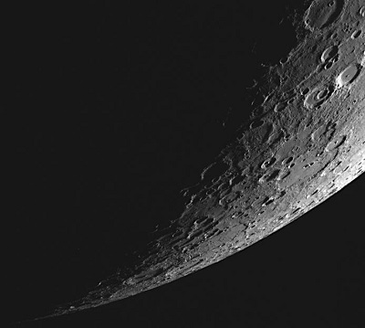 MESSENGER spacecraft image of Mercury's southern hemisphere (NASA/Johns Hopkins University Applied Physics Laboratory/Carnegie Institution of Washington)