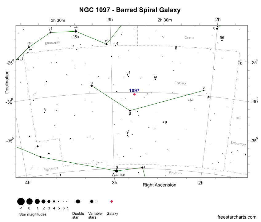 Finder Chart for NGC 1097 (credit:- freestarcharts)