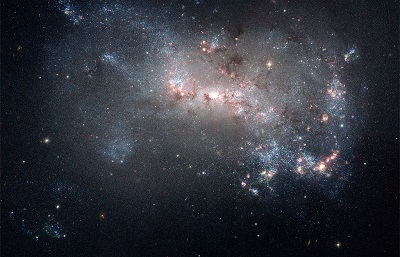 NGC 4449 (credit:-  NASA, ESA, and The Hubble Heritage Team (STScI/AURA))