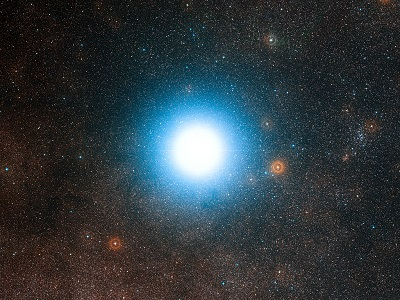 Alpha Centauri (credit:- ESO/Digitized Sky Survey 2/Davide De Martin)